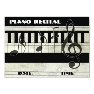 Invitación del decreto del piano invitación 12,7 x 17,8 cm