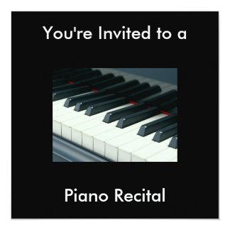 Invitación del decreto del piano invitación 13,3 cm x 13,3cm