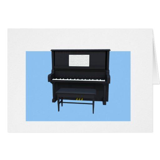 Invitación del decreto del piano tarjeton