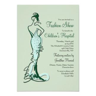 Invitación del desfile de moda de las costuras