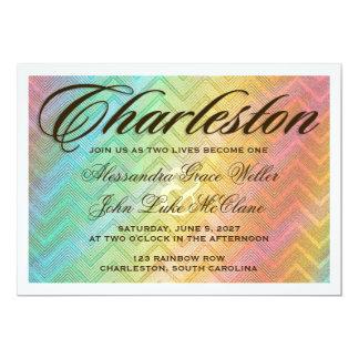 Invitación del destino de CHARLESTON Invitación 12,7 X 17,8 Cm