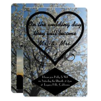 Invitación del día de boda