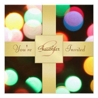 Invitación del día de fiesta de las luces de navid