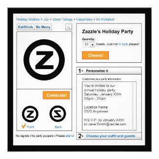 Invitación del día de fiesta de Zazzle