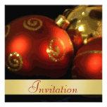 Invitación del día de fiesta del navidad de las de