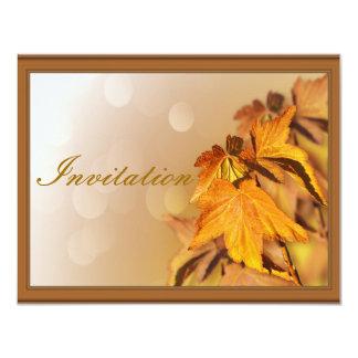 Invitación del día de la acción de gracias invitación 10,8 x 13,9 cm