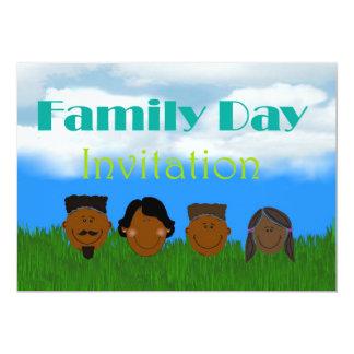 Invitación del día de la familia con la familia de invitación 12,7 x 17,8 cm