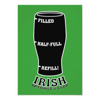 Invitación del día del St. Patty - club irlandés