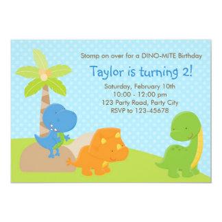 Invitación del dinosaurio - cumpleaños/fiesta de