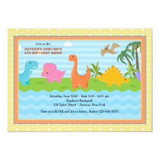 Invitación del dinosaurio de los compinches del