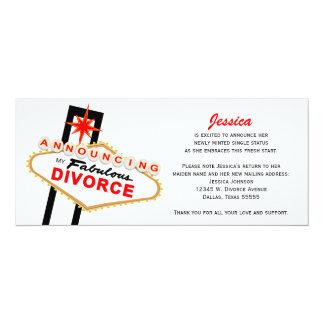 Invitación del divorcio de Las Vegas