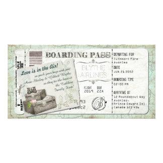 Invitación del documento de embarque de la maleta