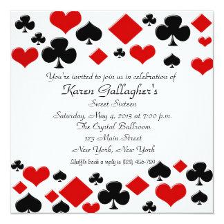 Invitación del dulce 16 de Las Vegas del casino