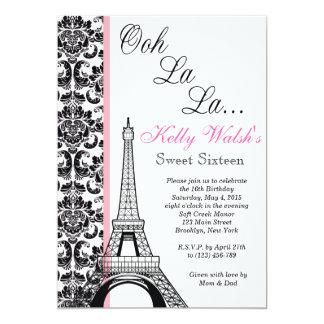 Invitación del dulce dieciséis de París del