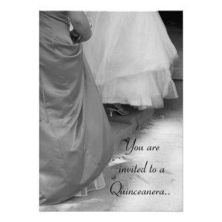 Invitación del dulce quince de Quinceanera de los