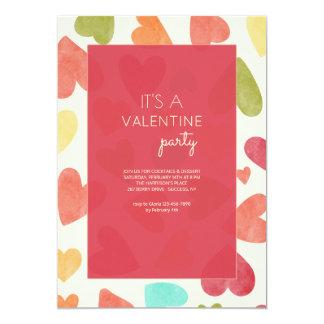 Invitación del el día de San Valentín del modelo