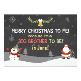 Invitación del embarazo de hermano mayor de las