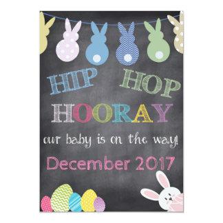 Invitación del embarazo de Hip Hop Hooray Pascua