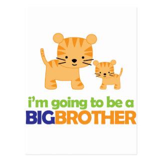 Invitación del embarazo de la camiseta del tigre postal
