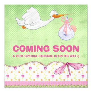 Invitación del embarazo de la entrega del pájaro