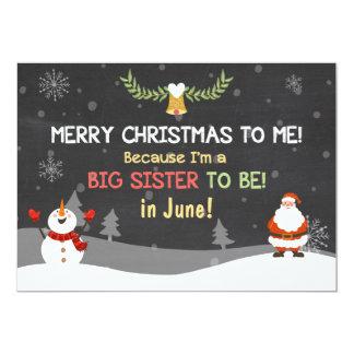 Invitación del embarazo de la hermana grande de