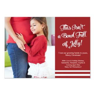 Tarjeta Invitación del embarazo de la jalea que cuenta con