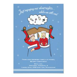 Invitación del embarazo de la tarjeta de Navidad