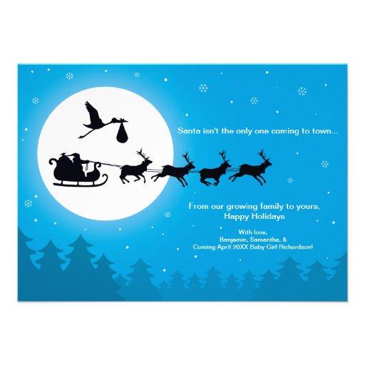 Invitación del embarazo de la tarjeta de Navidad -