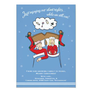 Tarjeta Invitación del embarazo de la tarjeta de Navidad -