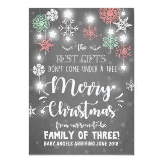 Invitación del embarazo de las Felices Navidad