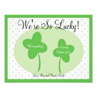 Invitación del embarazo del día del St Patricks af