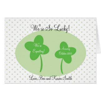 Invitación del embarazo del día del St Patricks/af Tarjetas