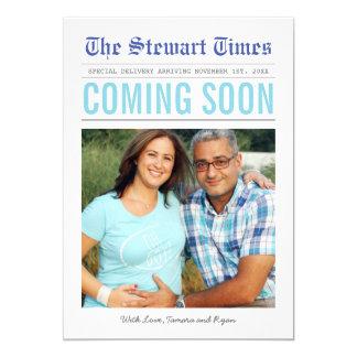 Invitación del embarazo del periódico el  