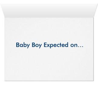 Invitación del embarazo tarjeta pequeña