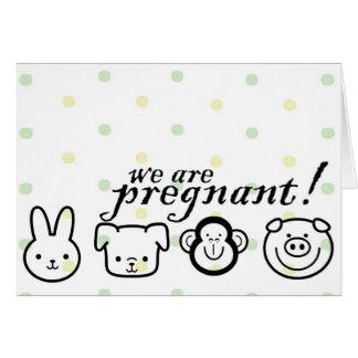 Invitación del embarazo tarjeta de felicitación