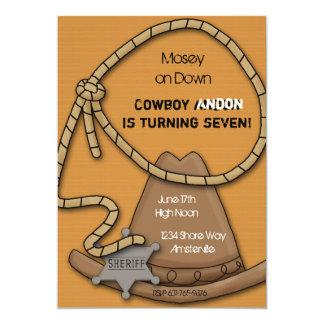 Invitación del engranaje del vaquero
