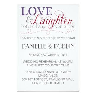 Invitación del ensayo del amor y de la risa