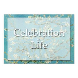 Invitación del entierro de la celebración de Van