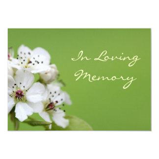 Invitación del entierro de la ceremonia