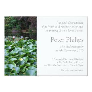 Invitación del entierro de Lotus del jardín 5