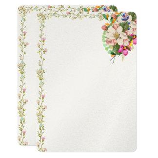 Invitación del espacio en blanco del ramo floral