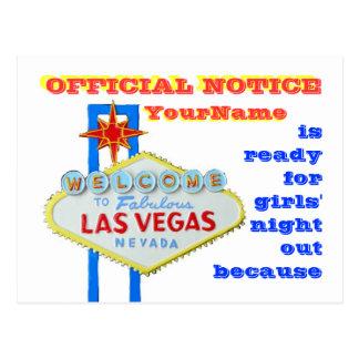 Invitación del estilo de Las Vegas del divorcio Postal
