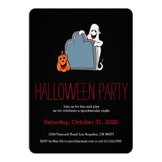 Invitación del fantasma del fiesta de Halloween