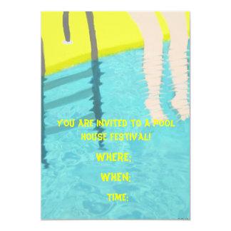 Invitación del festival de la casa de la piscina