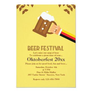 Invitación del festival de la cerveza invitación 12,7 x 17,8 cm