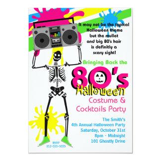 invitación del fiesta de 80s Halloween