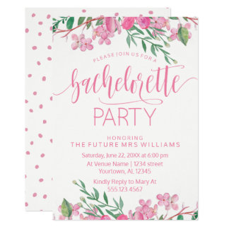Invitación del fiesta de Bachelorette de los