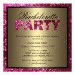 Invitación del fiesta de Bachelorette del brillo d