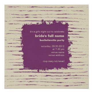 Invitación del fiesta de Bachelorette del ciruelo