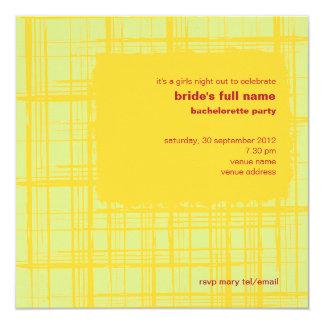 Invitación del fiesta de Bachelorette del limón